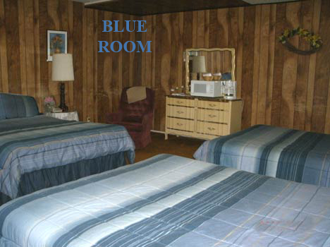 "Alta Vista Chalet Motel's ""BLUE ROOM"" has three Queen size beds.  A large comfortable room with a private bath.  Come on and experience a great visit to Cloudcroft.  575-682-2221"